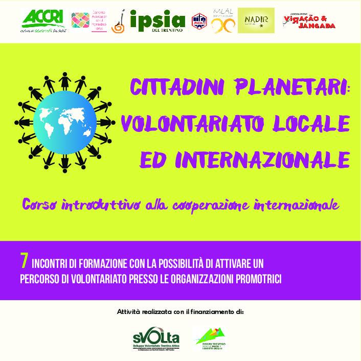 Cittadini Planetari: Volontariato Locale E Internazionale – Mlal Trentino Onlus